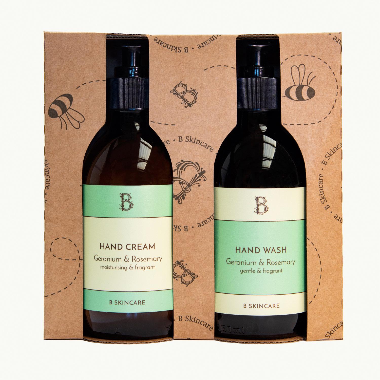 B Handy Gift Set - Geranium & Rosemary Set